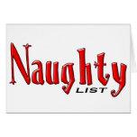 Naughty List Cards