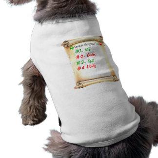 Naughty List Doggie Tee