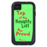 Naughty List iphone 4 Tough Xtreme Case iPhone4 Case