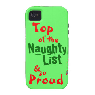 Naughty List iphone 4 Vibe Case Case-Mate iPhone 4 Covers