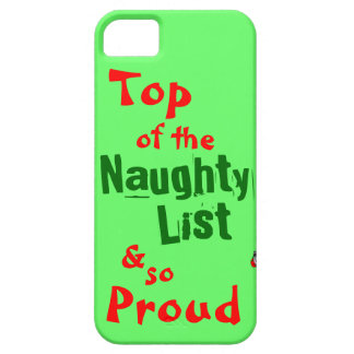 Naughty List iphone 5/5S Barely There Case