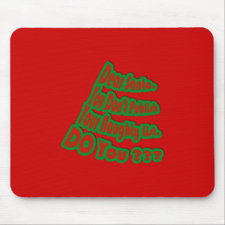 Naughty List Mouse Pad