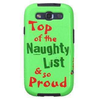 Naughty List Samsung Galaxy S3 Vibe Case Galaxy SIII Covers