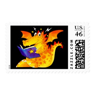 naughty little dragon postage stamp