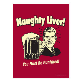 Naughty Liver: You Must Be Punished Postcard