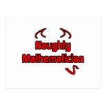 Naughty Mathematician Postcard