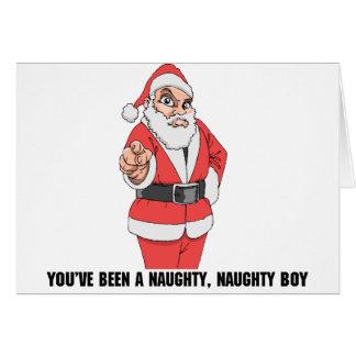 Naughty Naughty Boy Card