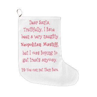 Naughty Neopolitan Mastiff Large Christmas Stocking