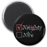 Naughty Nice 2 Inch Round Magnet