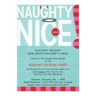 Naughty & Nice 5x7 Paper Invitation Card
