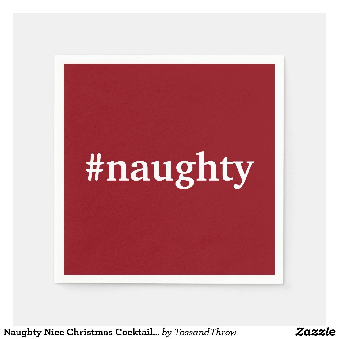 Naughty Nice Christmas Cocktail Pary Napkin