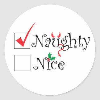 Naughty Nice Classic Round Sticker