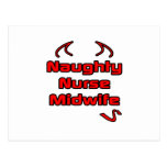 Naughty Nurse Midwife Postcard