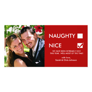 Naughty of Nice? Personalized Photo Card