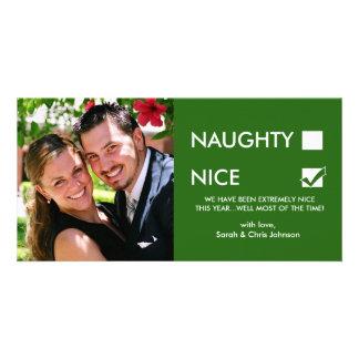 Naughty of Nice? Photo Greeting Card