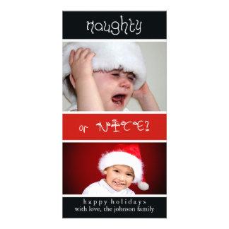 Naughty of Nice Photo Card Template