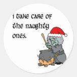 naughty ones round stickers