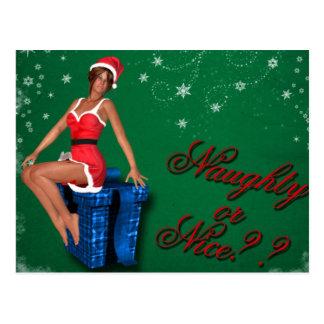 naughty or nice1 postcard