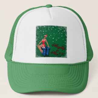 naughty or nice1 trucker hat