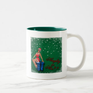naughty or nice1 Two-Tone coffee mug