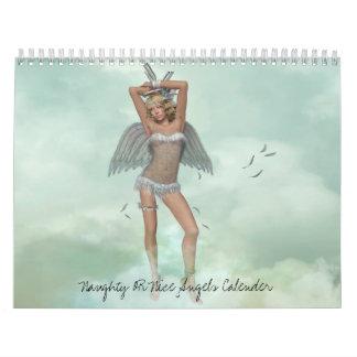 Naughty OR Nice Angels Calender Calendar