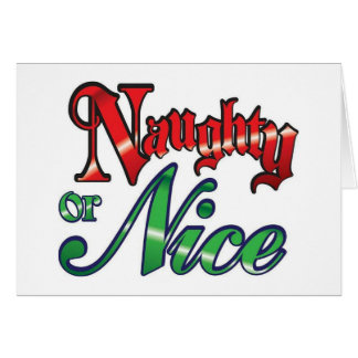 """NAUGHTY OR NICE AT """"50"""" DO WHAT """"YOU"""" WISH! CARD"""