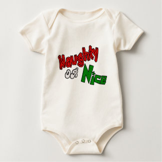 Naughty Or Nice? Baby Clothes Baby Bodysuit