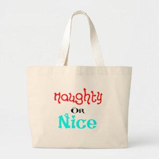 Naughty or Nice Canvas Bag