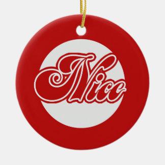 Naughty or Nice Christmas Ceramic Ornament