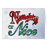 Naughty or Nice Christmas Greeting Card
