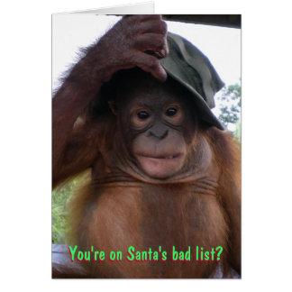 Naughty or Nice Christmas List Humor Card