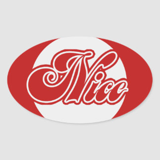 Naughty or Nice Christmas Oval Sticker