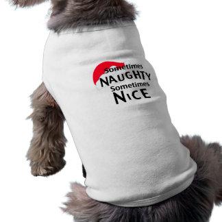 Naughty or Nice Christmas Pet Clothing