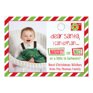 Naughty Or Nice Christmas Postcard Card 5x7