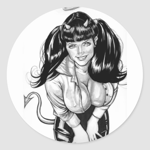 Naughty or Nice Classic Round Sticker