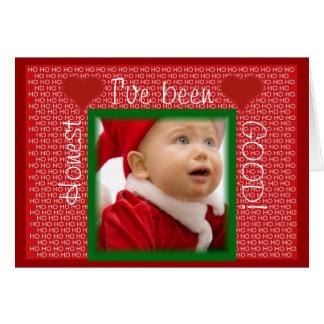 Naughty or Nice Cute Baby Christmas Greeting Card