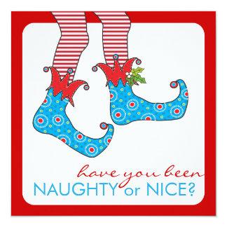 Naughty or Nice Elf Holiday Christmas Party Card