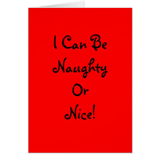 Naughty or Nice - Greeting Card Vertical