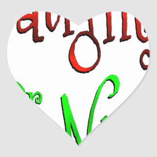 Naughty or Nice Heart Sticker