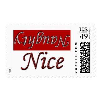 Naughty Or Nice Holiday Christmas Xmas Stamp