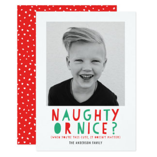 Naughty or Nice | Holiday Photo Card