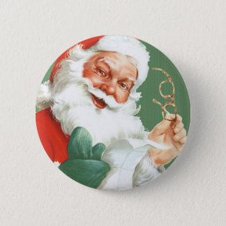 Naughty or Nice List-Santa Claus Christmas Button