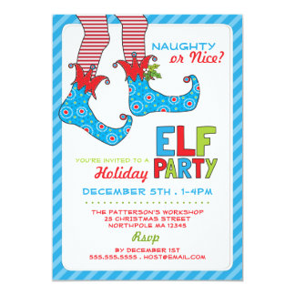 Naughty or Nice Magic Elf Holiday Party Invitation