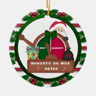 Naughty Or Nice Meter Christmas ornament