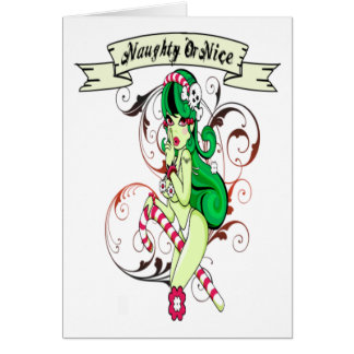 Naughty Or Nice - Note Card
