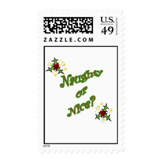 naughty or nice postage stamp