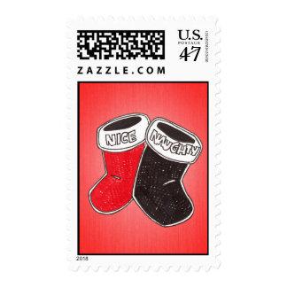 Naughty or Nice Postage Stamp