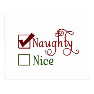 Naughty or Nice Postcard