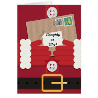 Naughty or Nice - Santa Suit Christmas Card