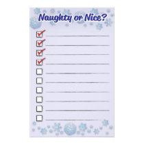Naughty Or Nice Stationery